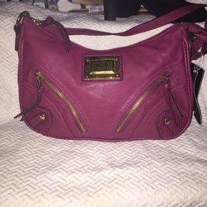 Nicole Miller top zip shoulder purse